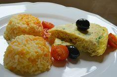 Arroz de Cenoura com Omelete de Atum - http://gostinhos.com/arroz-de-cenoura-com-omelete-de-atum/