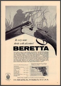 1962 BERETTA Silver Snipe Shotgun AD Advertising : Other Collectibles at…