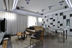 design modern home Furniture Layout Perfectly Defining Living Spaces: Matrix Residence in Taipei