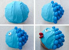 Process for decorating the Little Fishy Cupcakes