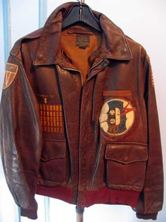 Lt. A. Epstein, 720th Bombardment Squadron, 450th Bombardment Group Original A-2 Horsehide Flight Jacket
