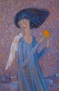 Olesya Serzhantova (Serjantova) Сержантова Олеся Angel Images, Angel Pictures, Art Pictures, Illustrations, Illustration Art, Seraph Angel, Entertaining Angels, Angel Artwork, Angel Paintings