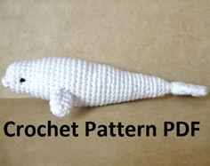 Free Crochet Amigurumi Whale Patterns : Beluga whales crochet pattern stitching crocheting