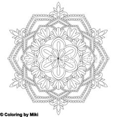 Flower Mandala Coloring Page #252