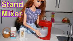 How to make a doll stand mixer (kitchen) for Barbie, Monster High, Froze...