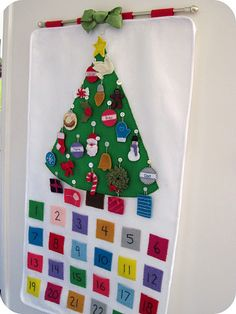 My mom made a very similar advent calendar many years ago and she passed it along to me last year.  I'd love to get it back in working order...
