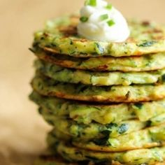 Zucchini Fritters HealthyAperture.com