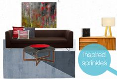 How to add accent colors to a room, modernly!