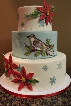.christmas wedding cake