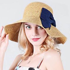 e51e808c Package wide brim sun hat womens UV protection floppy straw sun hats
