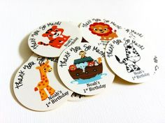 Noah's Ark Party Sticker Favor Labels for Birthday and Baby Shower by @adorebynat
