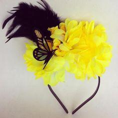 Tiara Flores amarelas Carnaval Mille Choses