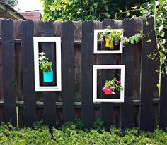 15 Super Unique Fence Planters That'll Have You Loving Your Privacy Fence Again - The ART in LIFE