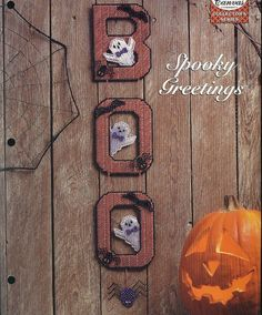 Spooky Greetings Plastic Canvas Pattern by needlecraftsupershop, $4.00