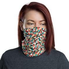 Kaleidoscope Pattern Seamless Design Geometric Neck Gaiter Warmer Windproof Mask Balaclava Face Mask Sports Mask For Outdoor Men And Women Free UV Personalized