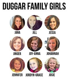 Duggar Family Girls