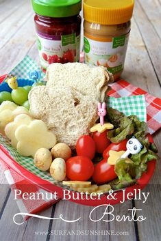 Bear Shaped Peanut Butter and Jelly Bento Lunch Surf and Sunshine Lunch Recipes, Sweet Recipes, Delicious Recipes, Easy Recipes, Tasty, Cute Snacks, Kid Snacks, Light Snacks, Creamy Peanut Butter