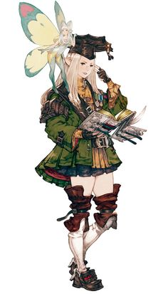 Elezen Scholar from Final Fantasy XIV: A Realm Reborn