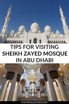 Visiting Sheikh Zayed Grand Mosque Abu Dhabi Things to know before visiting the Sheikh Zayed Grand Mosque in Abu Dhabi (UAE) including what to wear, best times to visit, how to get there and other tips. Middle East Destinations, Travel Destinations, Solo Travel, Asia Travel, Travel Route, Travel Oklahoma, Abu Dhabi, Travel Guides, Travel Tips