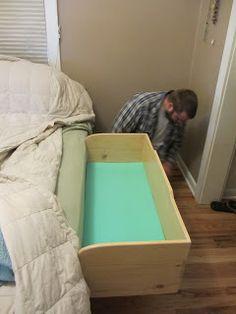 our homegrown spud: spud box!! (a DIY co-sleeper)
