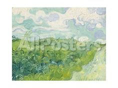 Green Wheat Fields, Auvers, 1890 Landscapes Giclee Print - 61 x 46 cm