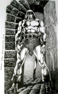 Conan by Drake. Fan Art after Buscema. Arte Drake, Red Sonja, Barbarian, Alice In Wonderland, Sci Fi, Advice, Fan Art, Statue, Conan Barbarian