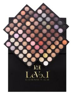 LEVEL 120 Color Eyeshadow Palette      The QUEEN Palette is a highly pigmented eye shadows palette this high-style mix of matte and shimmer eyeshadow colors will give you the opportunity to inspire creative blending and highlighting.            LEV120B by LEVEL Cosmetics USA         http://www.amazon.com/dp/B00BBJ5HA2/ref=cm_sw_r_pi_dp_-6amrb1P31EYE
