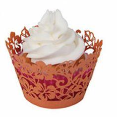 Beach - Cupcake Wrapper Tropical Hibiscus