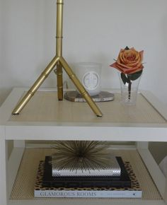 Guest Bedroom Suite. The table is cool! Love the sparce and tidy decor!