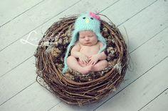 Large Faux Owl/Bird Nest Newborn Infant Photo Prop. $45.00, via Etsy.