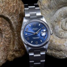 Rolex date (34mm) from 1999. Price: €3.850,- including 2 years warranty - Spiegelgrachtjuweliers.nl | rolex watches for men | rolex horloge voor heren | rolex horloge voor mannen | vintage watches | vintage horloges | horloges heren #spiegelgrachtjuweliers #horloge #rolex #rolexwatches Rolex Watches For Men, Vintage Watches For Men, Vintage Rolex, Luxury Watches, Amsterdam Shopping, Rolex Date, Best Model, Omega Watch, Vintage Jewelry