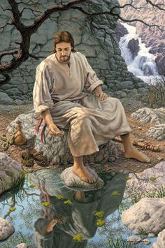 Religious Photo: Jesus the living water. This Photo was uploaded by dstorms Religious Pictures, Bible Pictures, Lds Art, Bible Art, Paintings Of Christ, Image Jesus, La Sainte Bible, Pictures Of Jesus Christ, Religion