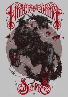 Game of Thrones: House Stark- Illustration by Ivan Belikov Casas Game Of Thrones, Arte Game Of Thrones, Game Of Thrones Houses, Game Of Thrones Illustrations, Illustrations Posters, Game Of Throne Poster, House Sigil, The Rolling Stones, Retro Typography
