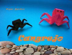 Origami - Papiroflexia. Cangrejo de río