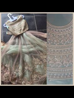 Beautiful olive green indian attire by ANUSHREE REDDY