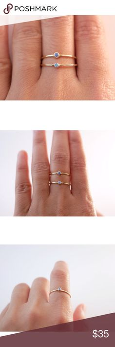 Selling this ZUMARI   Fire Opal Gold Stacking Ring on Poshmark! My username is: zumari. #shopmycloset #poshmark #fashion #shopping #style #forsale #Zumari #Jewelry