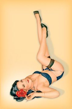 Loving the pin-up! Where small waists are accentuated & even when it looks like they've had a long day...they're still beautiful! Love it! :)