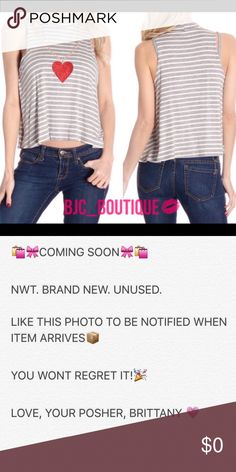 NOW AVAILABLE! ❤️Grey & White Chain Heart Tank❤️ ❤️Grey & White Chain Heart Tank❤️  Material:  Polyester 100%  Made in USA  ▪️I NO LONGER LOWER MY PRICES - OFFERS ARE WELCOME  ▪️ASK QUESTIONS  TRADE OFFER COMMENTS ▪️BUSINESS DAY SHIPPING ONLY ▪️ SAVE & BUNDLE KEEP CALM & POSH ON BJC_BOUTIQUE Tops