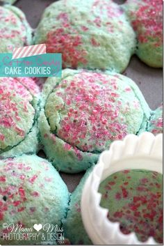 Cotton Candy Cake Cookies #foods