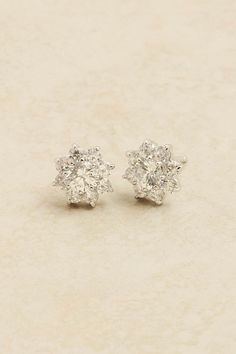 CZ Flake Cluster Earrings on Emma Stine Limited