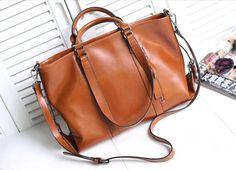 Retro Brown Large Leather Tote Bag-Shopper-Ipad-MacBookBag-laptop- Shoulder Bag Leather Satchel /Briefcase Bag handbag/purse/handbags Bags