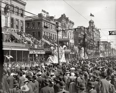 New Orleans, LA - Mardi Gras Parade on Canal, early 1900's.