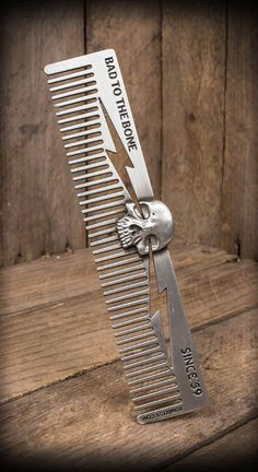 This comb looks awesome in the back pockets of your jeans. This unique comb brings two times delight...