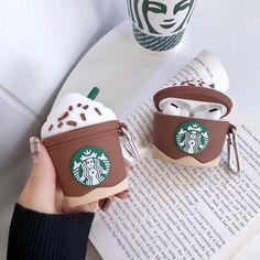 Starbucks Cappuccino AirPod Case Airpods And Generation & AirPod Pro Ca… - Phone Accessories Cute Ipod Cases, Cool Cases, Diy Phone Case, Iphone Phone Cases, Iphone 5s, Cute Headphones, Accessoires Iphone, Earphone Case, Air Pods