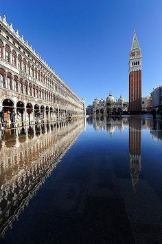 Bell Tower, St. Mark's Square - Venice, Italy - Photo by Saul Santos Diaz | #Photography #Travel #places |