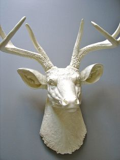 Faux Taxidermy Deer Head Deerman the Deer Head by mahzerandvee, $109.00