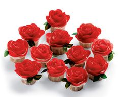Easy Rose Cupcakes