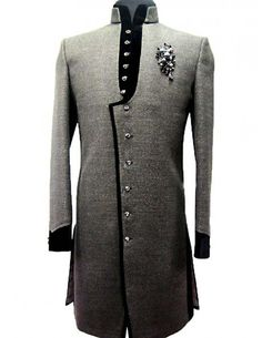 To order this whatsapp us on Mens Sherwani, Sherwani Groom, Wedding Sherwani, Indian Men Fashion, Mens Fashion Suits, Mens Suits, Groomsmen Fashion, Dress Suits For Men, Men Dress