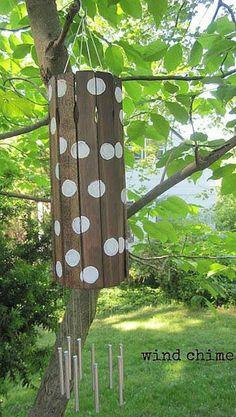 carillon à vent en bois