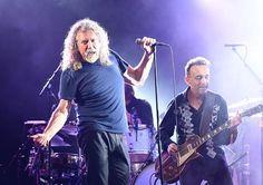 Robert Plant performing at Bonnaroo Music Festival 2015
